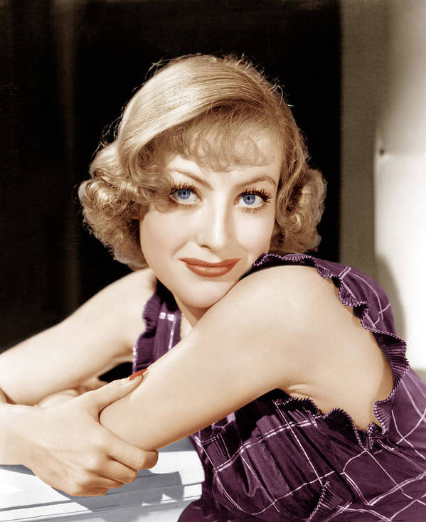 1930s Hairstyles Art Print featuring the photograph Joan Crawford, Ca. 1930s by Everett