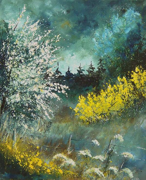 Spring Art Print featuring the painting Spring by Pol Ledent