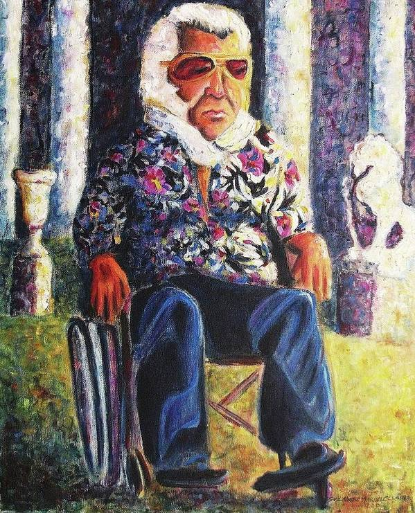 Whellchair Art Print featuring the painting Untitled by Suzanne Marie Leclair