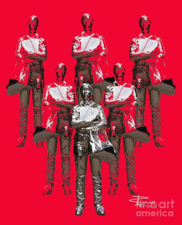Statue Art Print featuring the digital art Girl Power by Rui DeGouveia