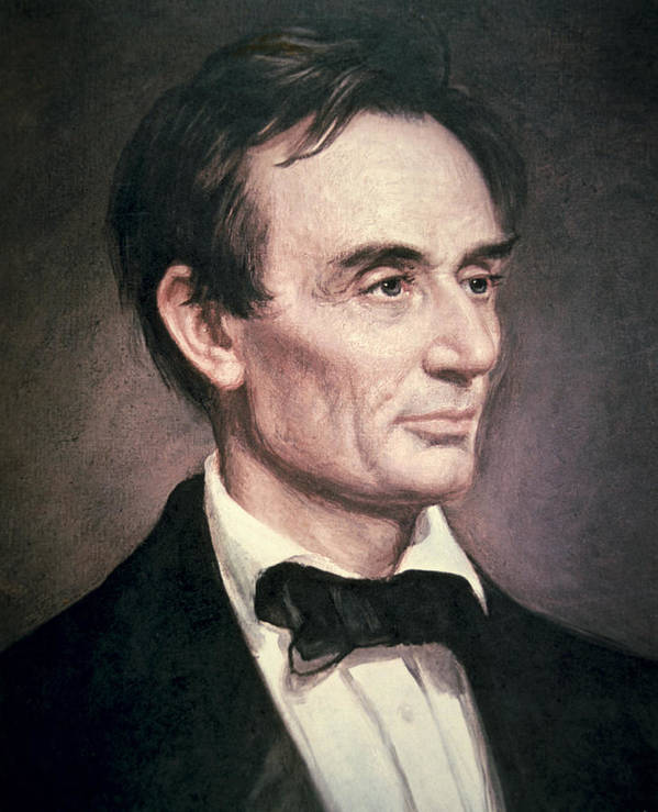 Male; Portrait; American; Statesman; Politician; Politics; Political Figure ;orator; Anti-slavery; Abolitionist; Us; Usa Art Print featuring the painting Abraham Lincoln by George Peter Alexander Healy