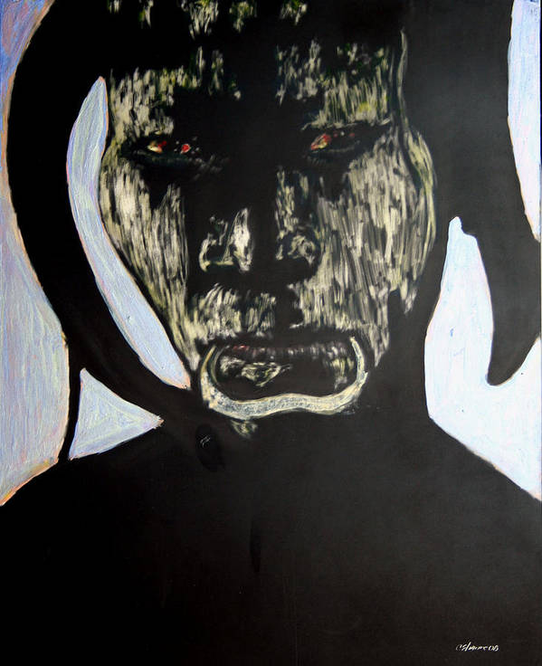 Art Print featuring the mixed media Avenging Angel by Chester Elmore
