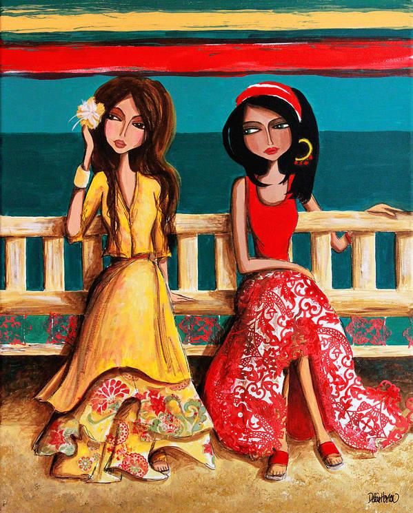 Bahama Art Print featuring the painting Bahama Breeze by Debbie Horton