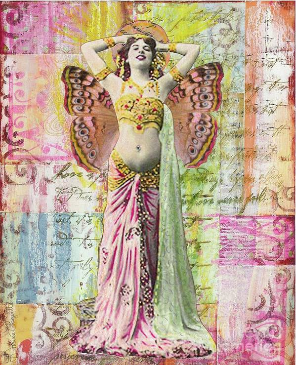 Belly Dancer Art Print featuring the mixed media Belly Dancer by Desiree Paquette