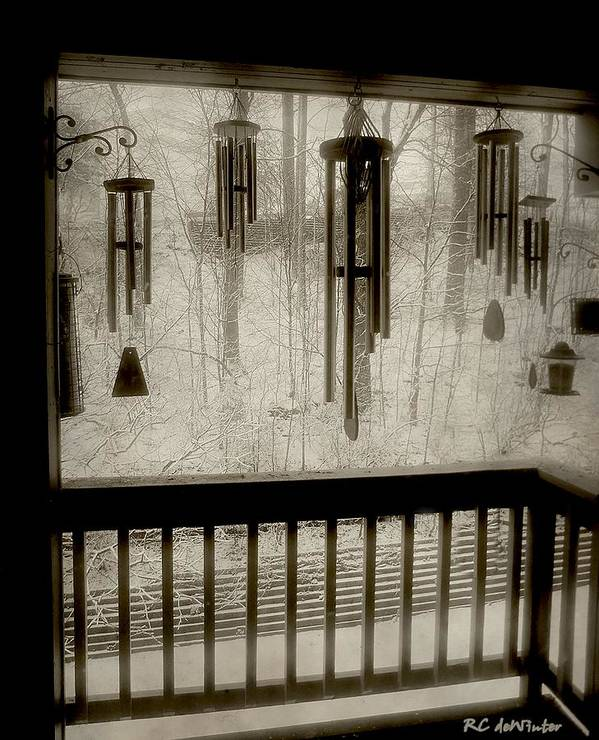 Balcony Art Print featuring the photograph Breathe Deep The Gathering Gloom by RC DeWinter