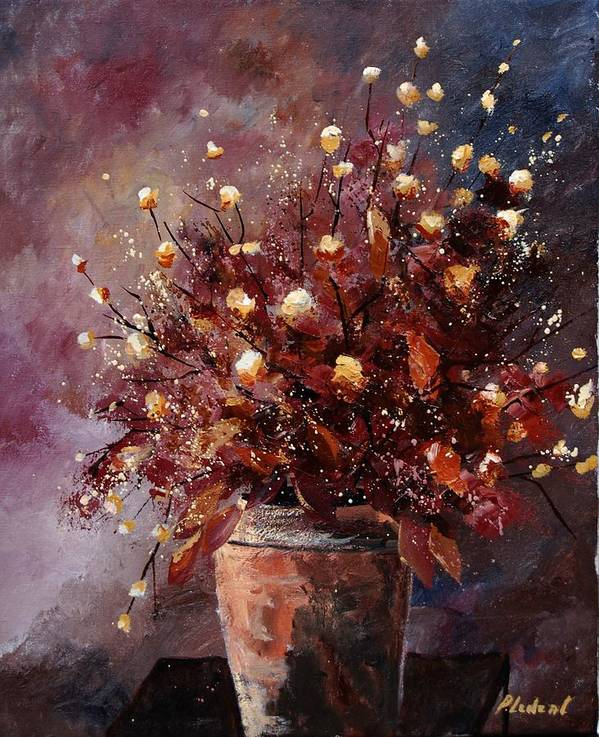Poppies Art Print featuring the painting Bunch 56 by Pol Ledent