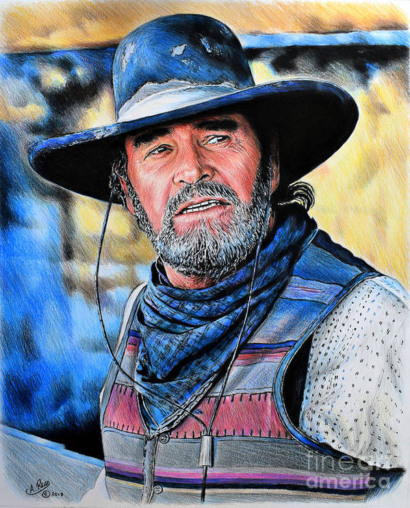 6bbdf47d724 James Garner Art Print featuring the drawing Captain Woodrow F Call by  Andrew Read
