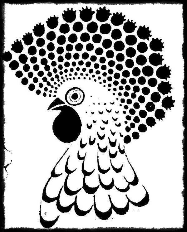 Tattoo Art Print featuring the digital art Chicken Tattoo by Paulo Zerbato