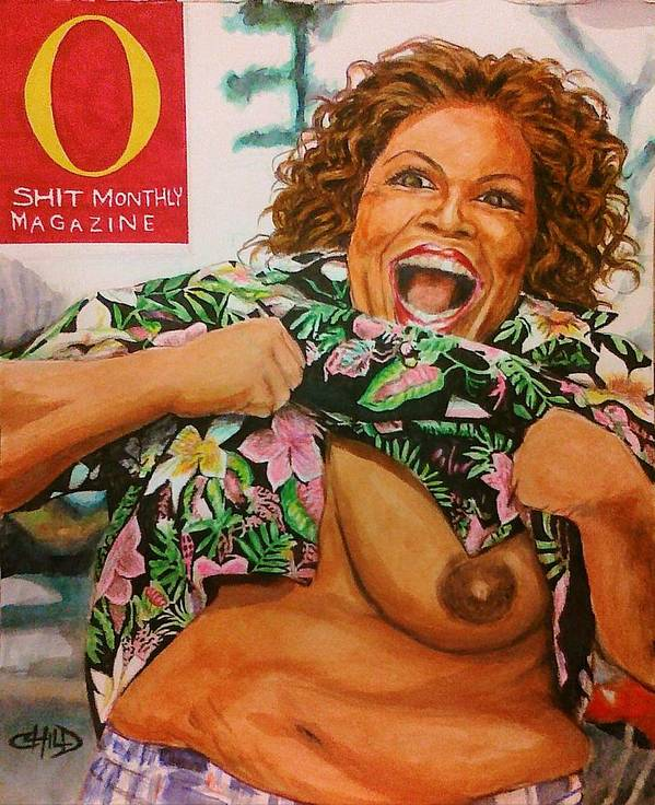 Oprah Winfrey Art Print featuring the painting Chocolate Truffle Shuffle by Brian Child