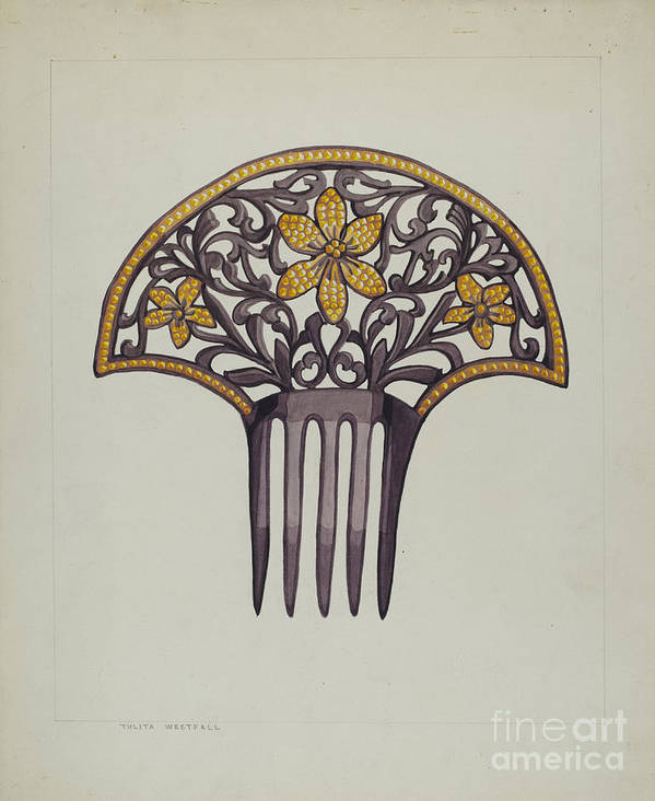 Art Print featuring the drawing Comb by Tulita Westfall