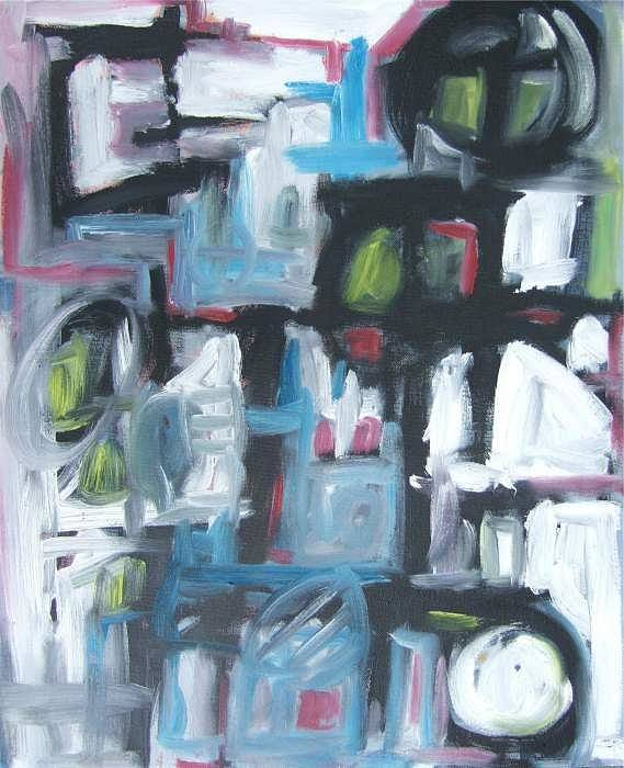Abstract Art Print featuring the painting Composition No. 3 by Michael Henderson