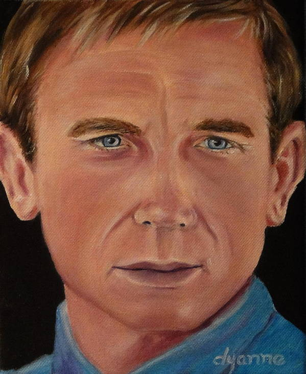 Celebrity Art Print featuring the painting Daniel Craig Oil Painting by Dyanne Parker
