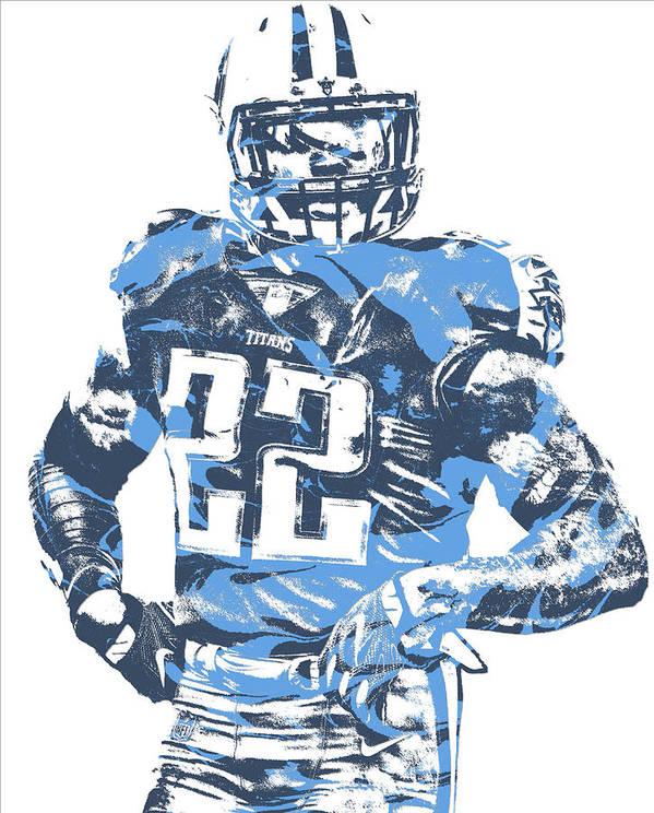 666021cb Derrick Henry Tennessee Titans Pixel Art 12 Art Print