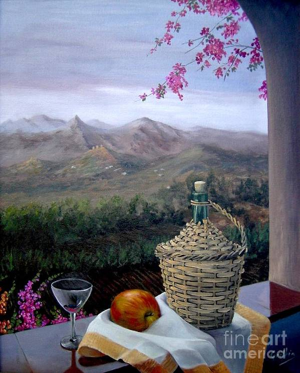 View Art Print featuring the painting Distant View by Mai Griffin