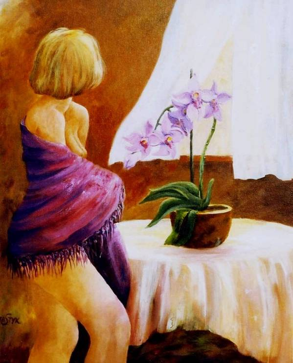 Figurative Art Print featuring the painting Early Morning by Marta Styk