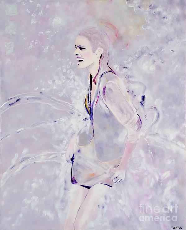 Portrait Art Print featuring the painting Eclaboussures by Krzis-Lorent Frederique