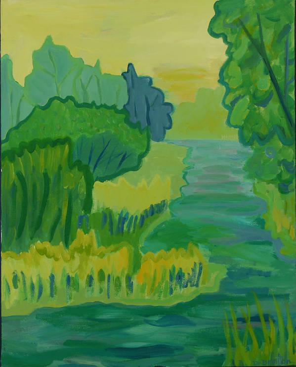 River Art Print featuring the painting Ellis River by Debra Bretton Robinson