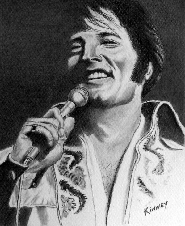 Celebrity Art Print featuring the drawing Elvis No. 8 by Jay Kinney