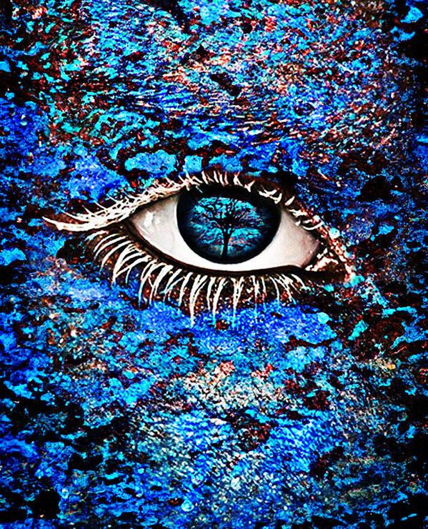 Human Eye Art Print featuring the photograph Eyelash by Yosi Cupano
