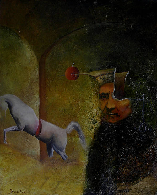 Surrealism Art Print featuring the painting Flemish Surrealism by Dejan Roncevic