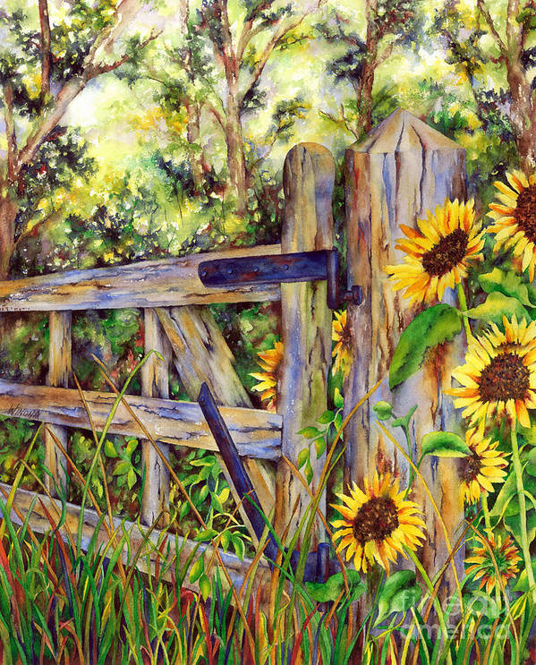 Garden Art Print featuring the painting Follow The Sun by Winona Steunenberg