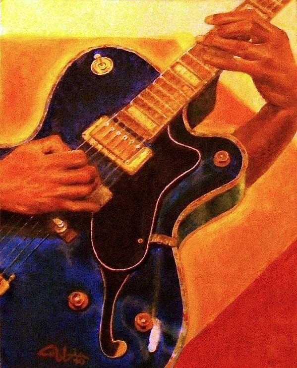 Blue Paintings Art Print featuring the painting Fusion Chord Chemistry by G Cuffia