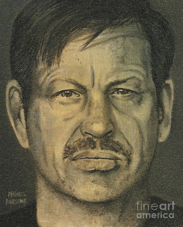 Gary Ridgway Art Print featuring the painting Gary Ridgway by Michael Parsons