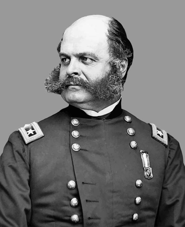 Ambrose Burnside Art Print featuring the painting General Burnside by War Is Hell Store