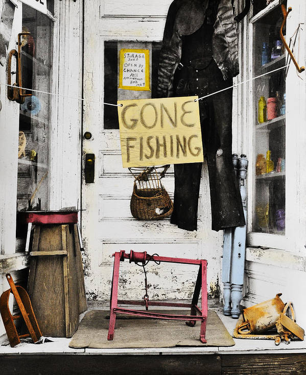 Gone Art Print featuring the photograph Gone Fishing by Allan Teger
