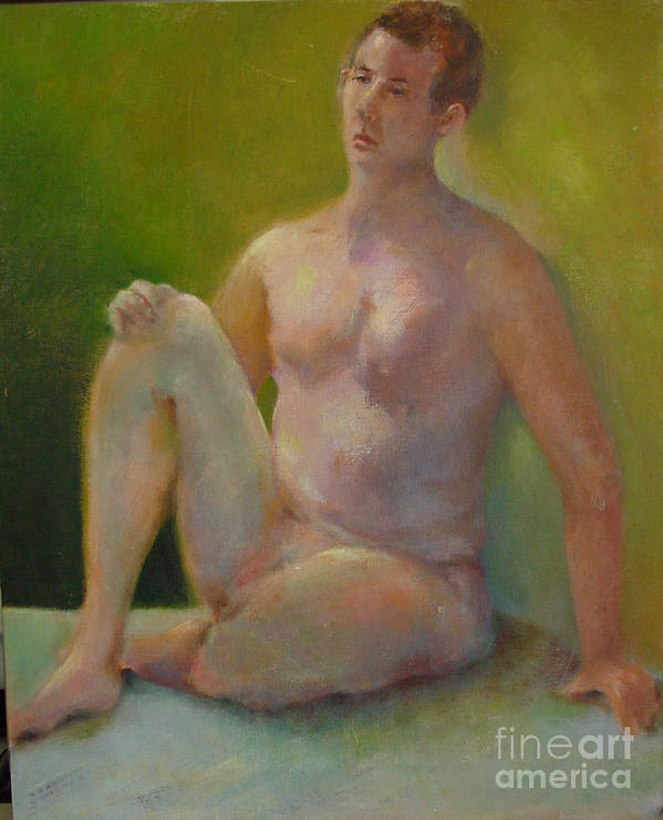 Figure Art Print featuring the painting Handsome      Copyrighted by Kathleen Hoekstra