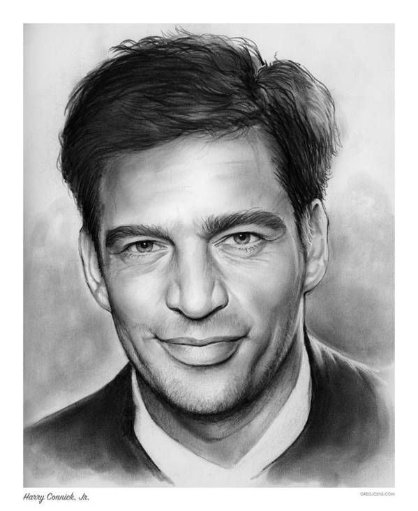 Harry Connick Art Print featuring the drawing Harry Connick, Jr. by Greg Joens
