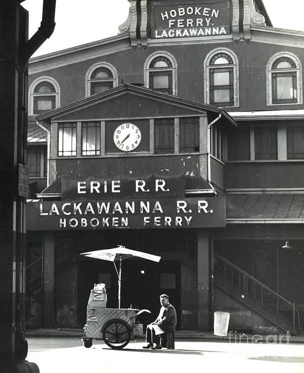 Erik Art Print featuring the photograph Hoboken Ferry C1966 by Erik Falkensteen