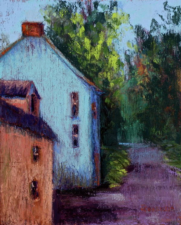 County Cork Art Print featuring the pastel Houses In Ireland by Joyce A Guariglia