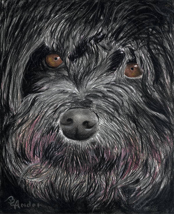 Dog Art Print featuring the drawing Is That A Smile by Brent Ander