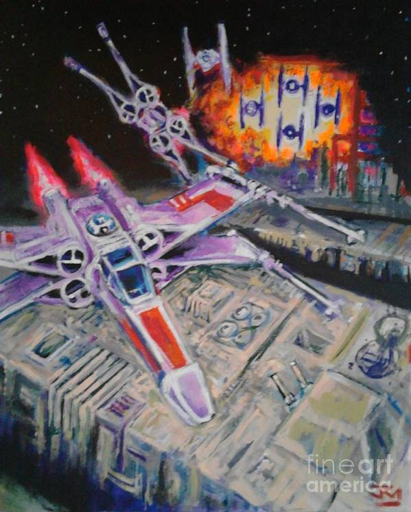 Jedi Art Print featuring the painting Jedi Run by Jedidiah Morley