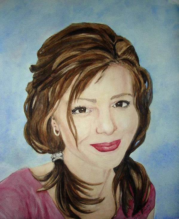 Artist Art Print featuring the painting Kerra Lindsey Self Portrait by Kerra Lindsey