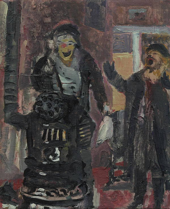 Figure Art Print featuring the painting Laboheme Act 1 Burning by Bill Collins