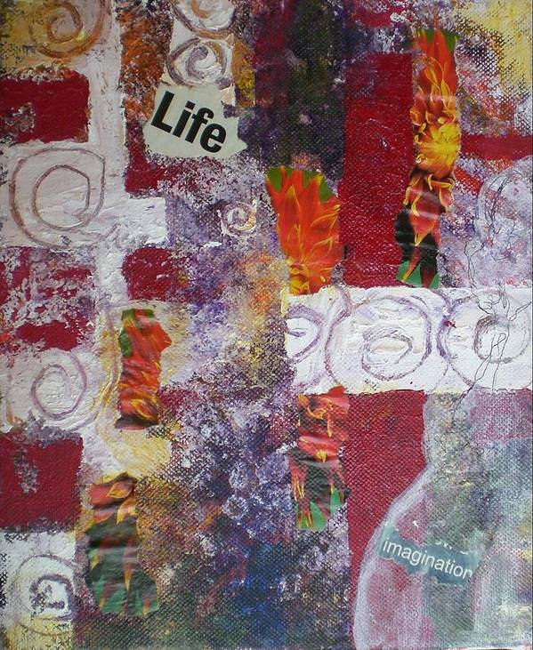 Collage Art Print featuring the mixed media Life Cycle by Aleksandra Buha