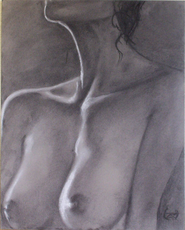 Nude Art Print featuring the drawing Like Lightning by T Ezell