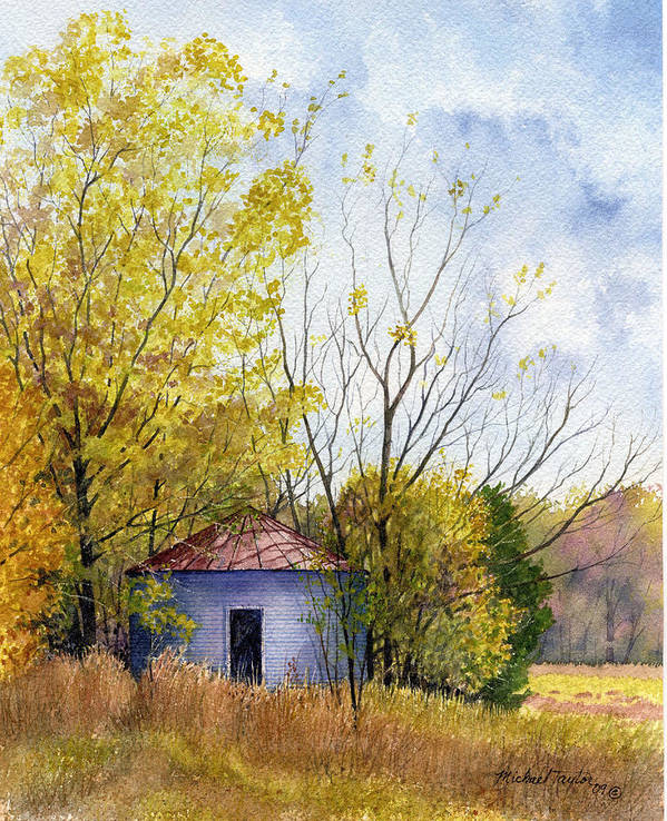 Landscape Art Print featuring the painting Lost Silo by Michael Taylor