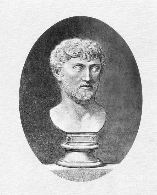 1st Century B.c. Art Print featuring the photograph Lucretius (96 B.c.?-55 B.c.) by Granger