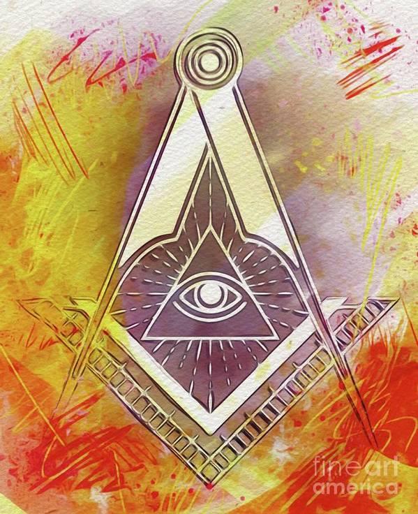 American Freemason Masonic Art Print