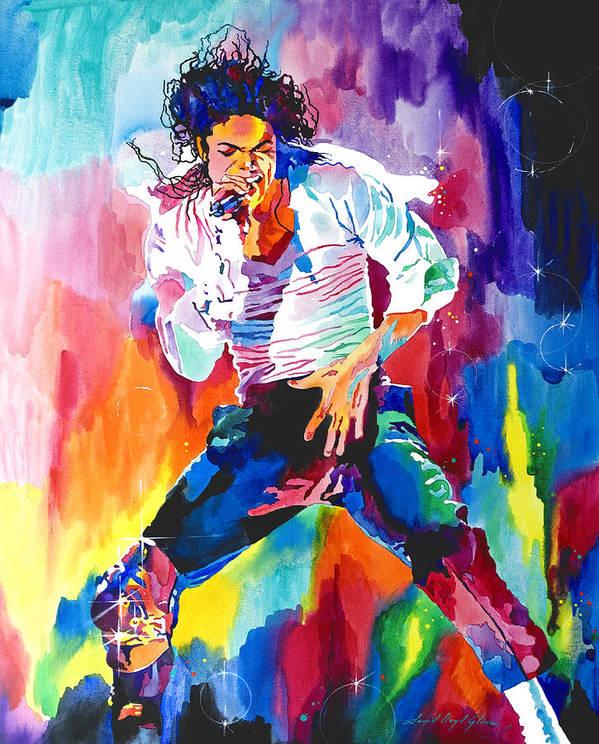 Michael Jackson Art Print featuring the painting Michael Jackson Wind by David Lloyd Glover