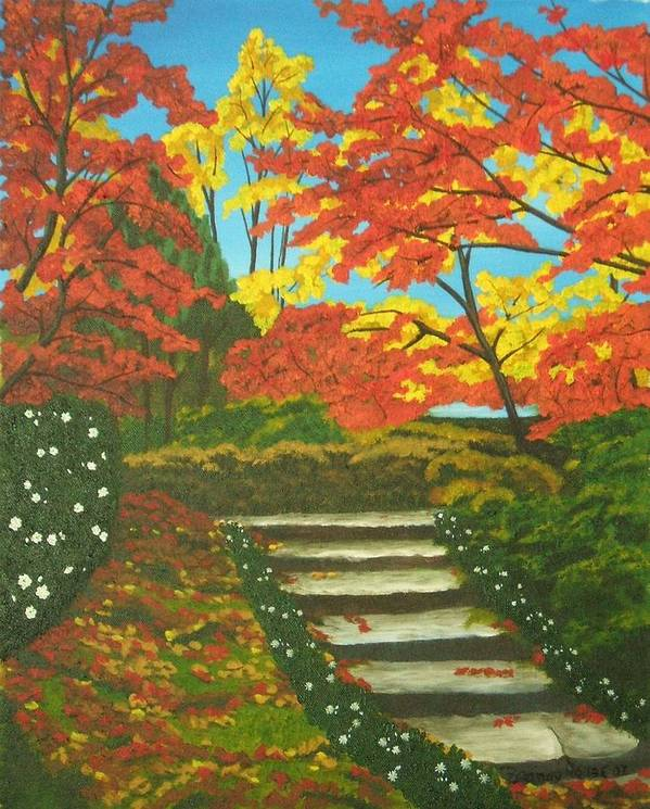 Fall Landscape Art Print featuring the painting Mystery Walk by Brandy House