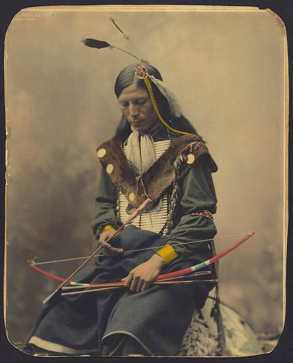 Old Art Print featuring the photograph Native American by FL collection