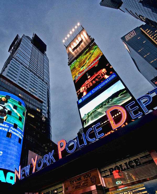 Police Art Print featuring the photograph New York Police Department by June Marie Sobrito