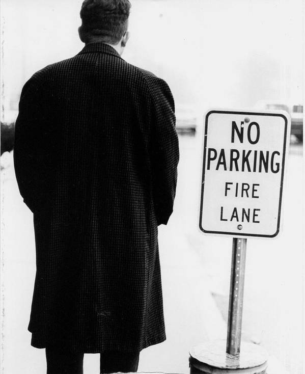 Man Art Print featuring the photograph No Parking by Lynn Gettman