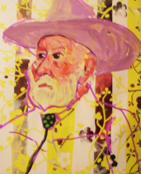 Old Cowboy Art Print featuring the painting Old Cowboy by Dick Eustice