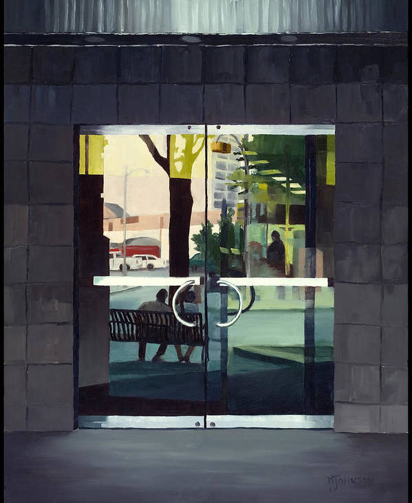 Cityscape Art Print featuring the painting Outside In by Deborah Johnson
