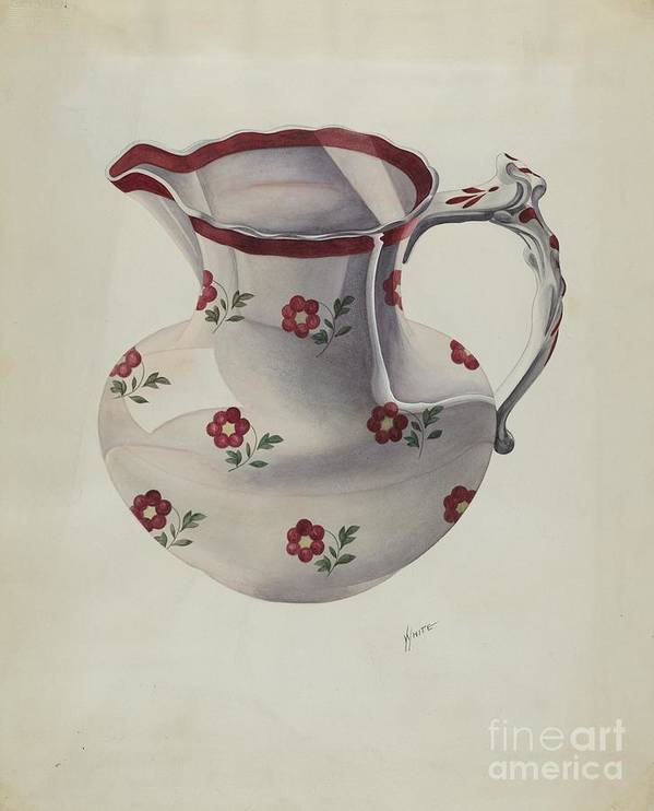 Art Print featuring the drawing Pitcher by Edward White